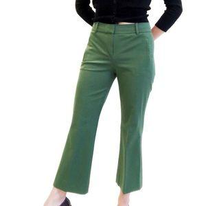 J. Crew Teddie Kick Flare Pants in Green